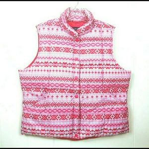 Lands End Ladies Goose Down puffer vest XL 18-20